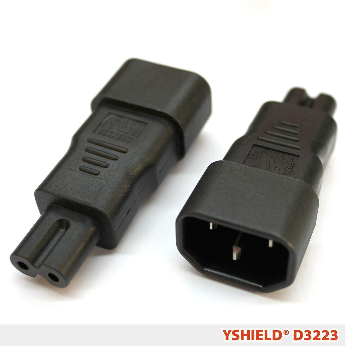 D3223 | Adapter C13 auf zweipolig C7