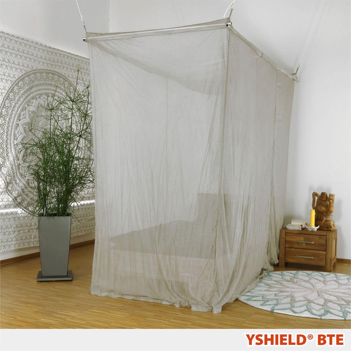 YSHIELD® BTE   Abschirmbaldachin   Einzelbett   SILVER-TULLE
