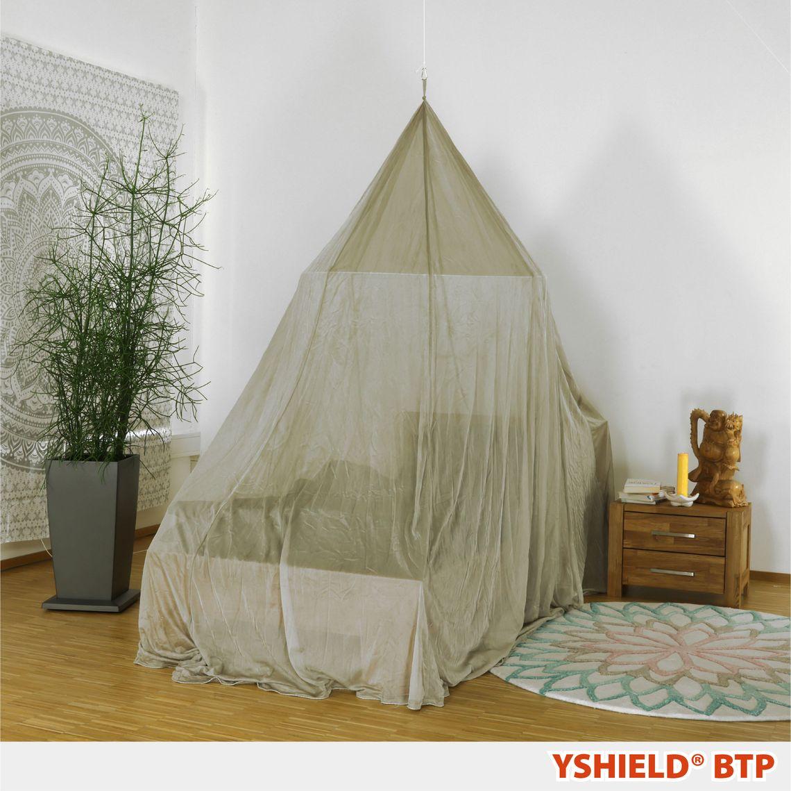 YSHIELD® BTP-M | Abschirmbaldachin | Pyramide | SILVER-TULLE | Miete 14 Tage