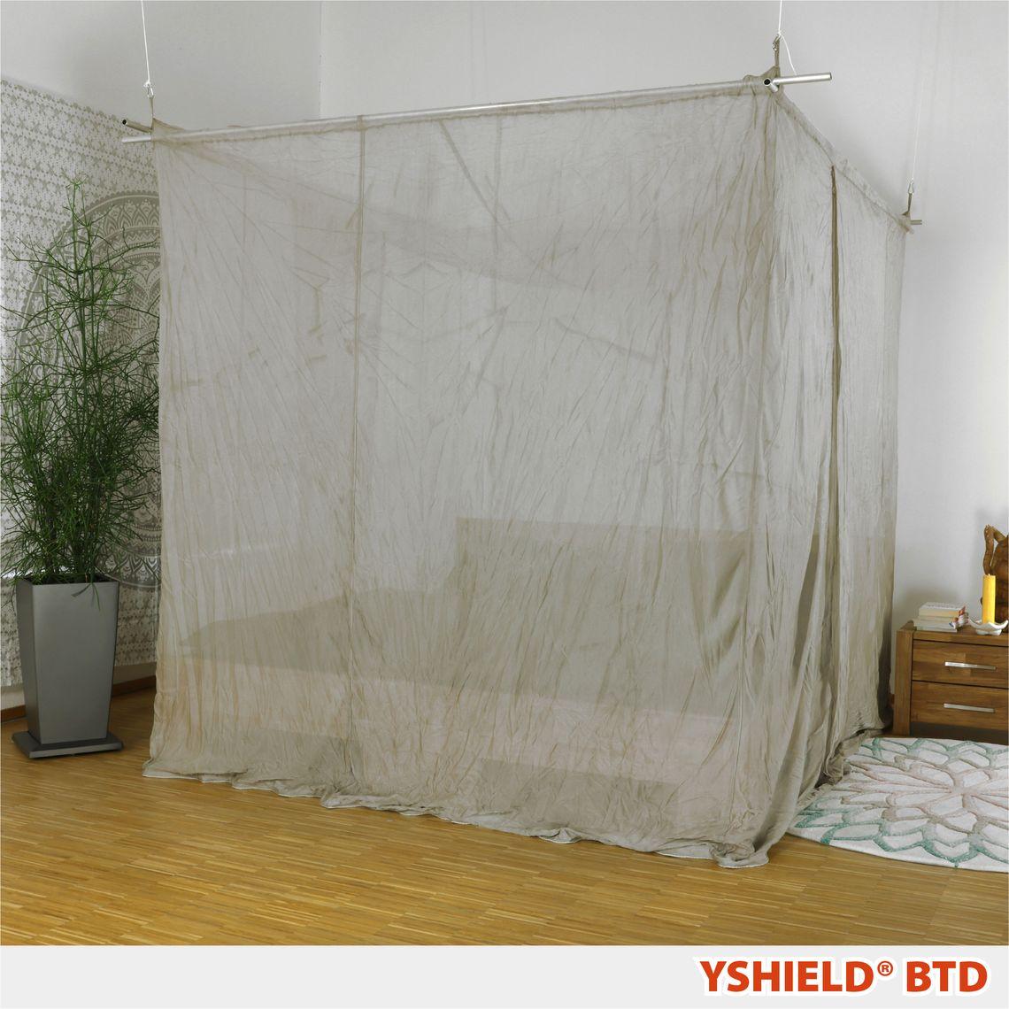 YSHIELD® BTD-M   Abschirmbaldachin   Doppelbett   SILVER-TULLE   Miete 14 Tage