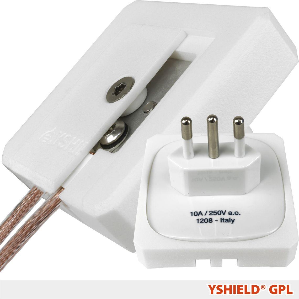 YSHIELD® GPL   Grounding plug L (CEI 23-50)