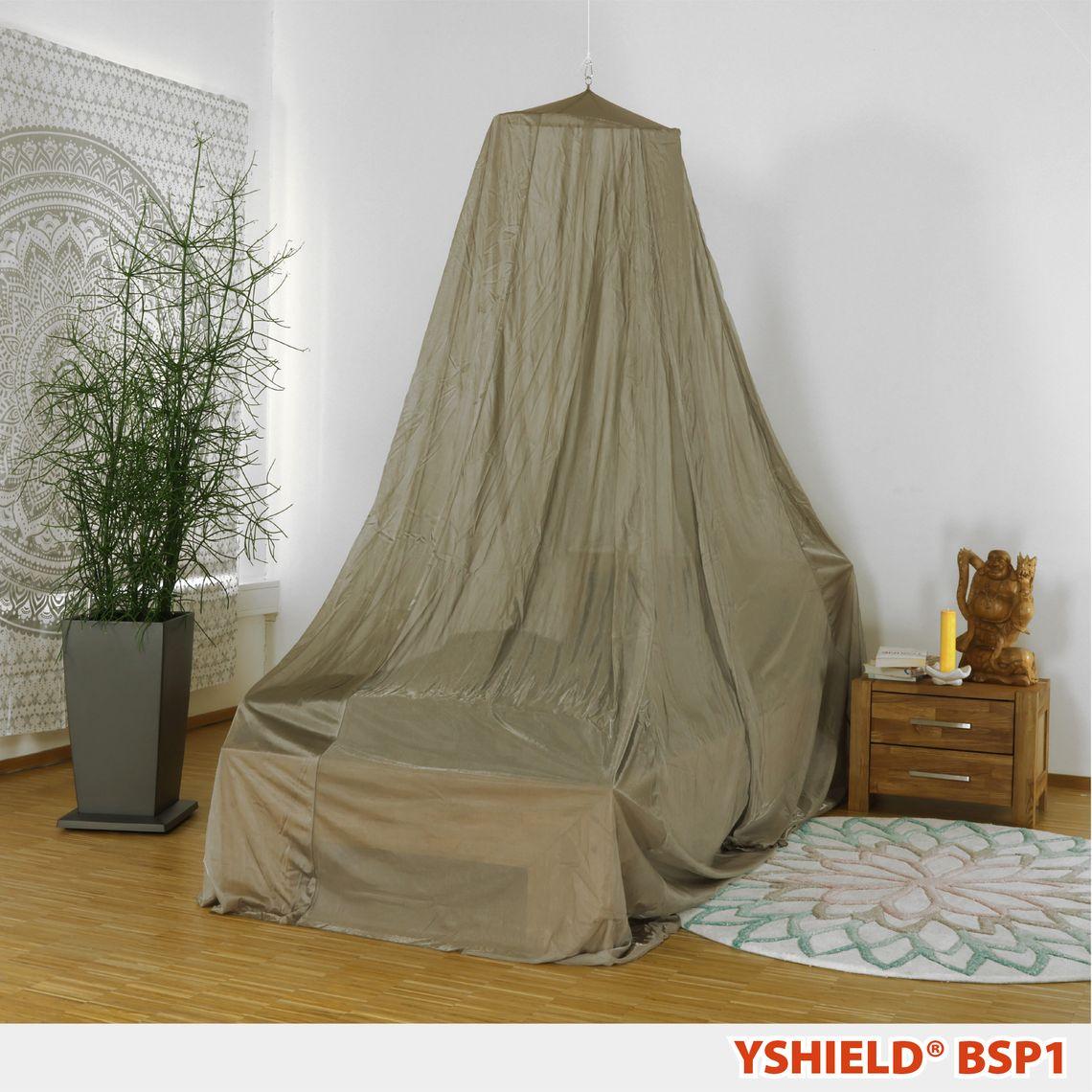YSHIELD® BSP1   SAFECAVE Abschirmbaldachin   Pyramide Einzelbett