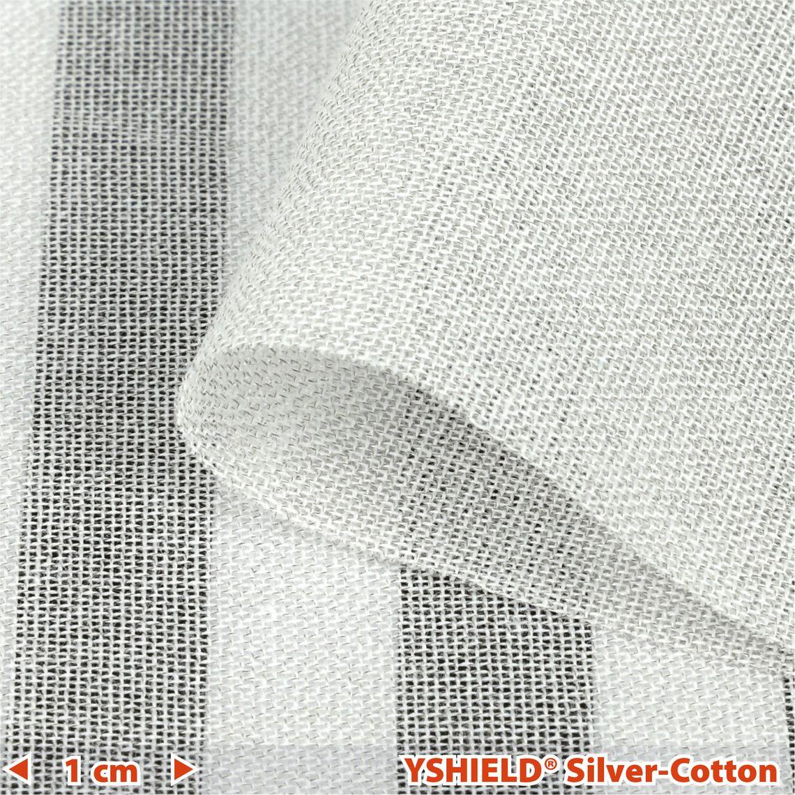 YSHIELD® SILVER-COTTON   Abschirmstoff   Breite 250 cm   1 Meter