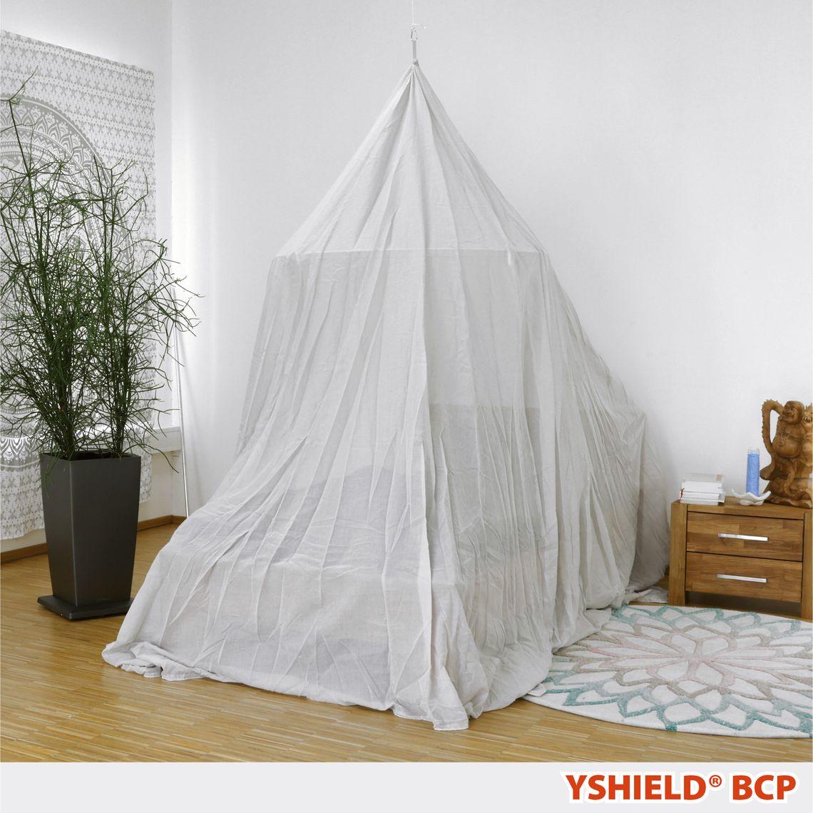 YSHIELD® BCP | Abschirmbaldachin | Pyramide | SILVER-COTTON