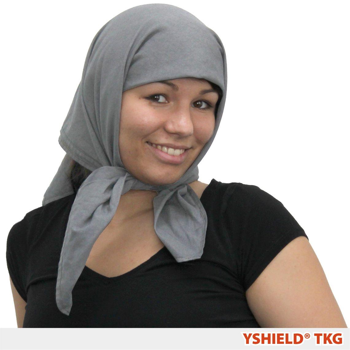 YSHIELD® TKG3   Abschirmendes Kopftuch   Steel-Gray Dreieckig