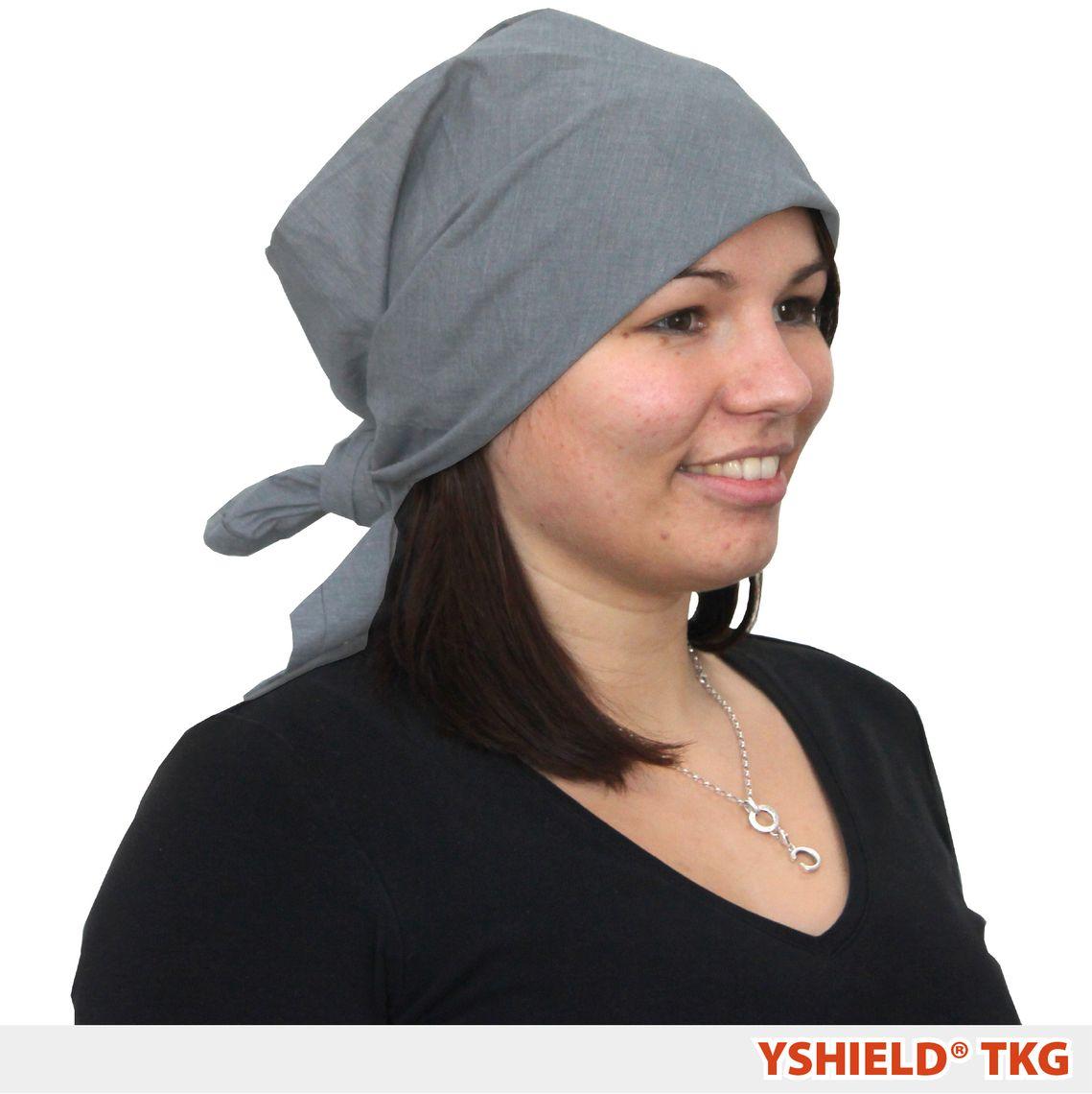 YSHIELD® TKG4   Abschirmendes Kopftuch   Steel-Gray Quadratisch
