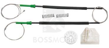 Bossmobil A6 / S6 (4F, C6), 4/5 portes, arrière  droite, kit de réparation du lève vitre