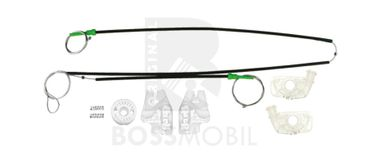 Bossmobil BMW 3 (E46), 4/5 doors, front right or left, window lifter repair kit