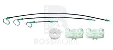 Bossmobil FREELANDER (LN) (Soft Top), 4/5 portes, devant gauche, kit de réparation du lève vitre