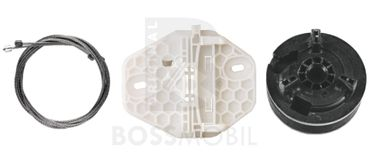 Bossmobil Renault Clio 2  (BB0/1/2_, CB0/1/2_), Kasten (SB0/1/2_), 4/5 doors, rear left, window lifter repair kit