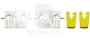 Bossmobil Renault Clio 3 III (BR0/1, CR0/1),  2/3 doors or 4/5 doors, front right or left, window lifter repair kit