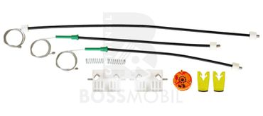 Bossmobil Renault Clio 3 III (BR0/1, CR0/1), 2/3 doors, front right, window lifter repair kit