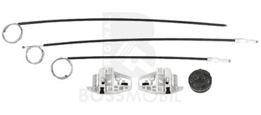 Bossmobil Renault MEGANE 2 II (BM0/1_, CM0/1_), Grandtour (KM0/1_), Stufenheck (LM0/1_), 4/5 doors, front right, window lifter repair kit