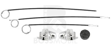 Bossmobil Renault MEGANE 2 II (BM0/1_, CM0/1_), Grandtour (KM0/1_), Stufenheck (LM0/1_), 4/5 doors, front left, window lifter repair kit