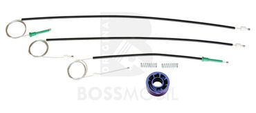 Bossmobil Seat Altea (5P1), XL(5P5, 5P8), 4/5 doors, front left, window lifter repair kit
