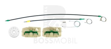 Bossmobil Seat ALHAMBRA (7V8, 7V9), 4/5 doors, front left, window lifter repair kit
