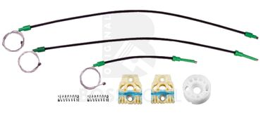 Bossmobil Volkswagen VW Golf 5, 4/5 doors, front left, window lifter repair kit