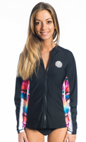 RipCurl wms Wetty UV Tee Front Zip black