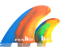 FCS II MR PC XLarge Tri Fin Set Multi Colour Swirl