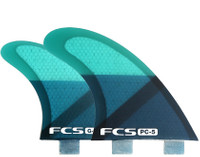 FCS PC-5 Blue Slice Quad Fin Set