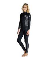 RipCurl wmns Dawn Patrol Back Zip 3/2 - Black/White