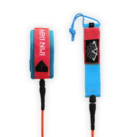 ARIINUI SUP Spiral Knee Leash 9' Red / Blue