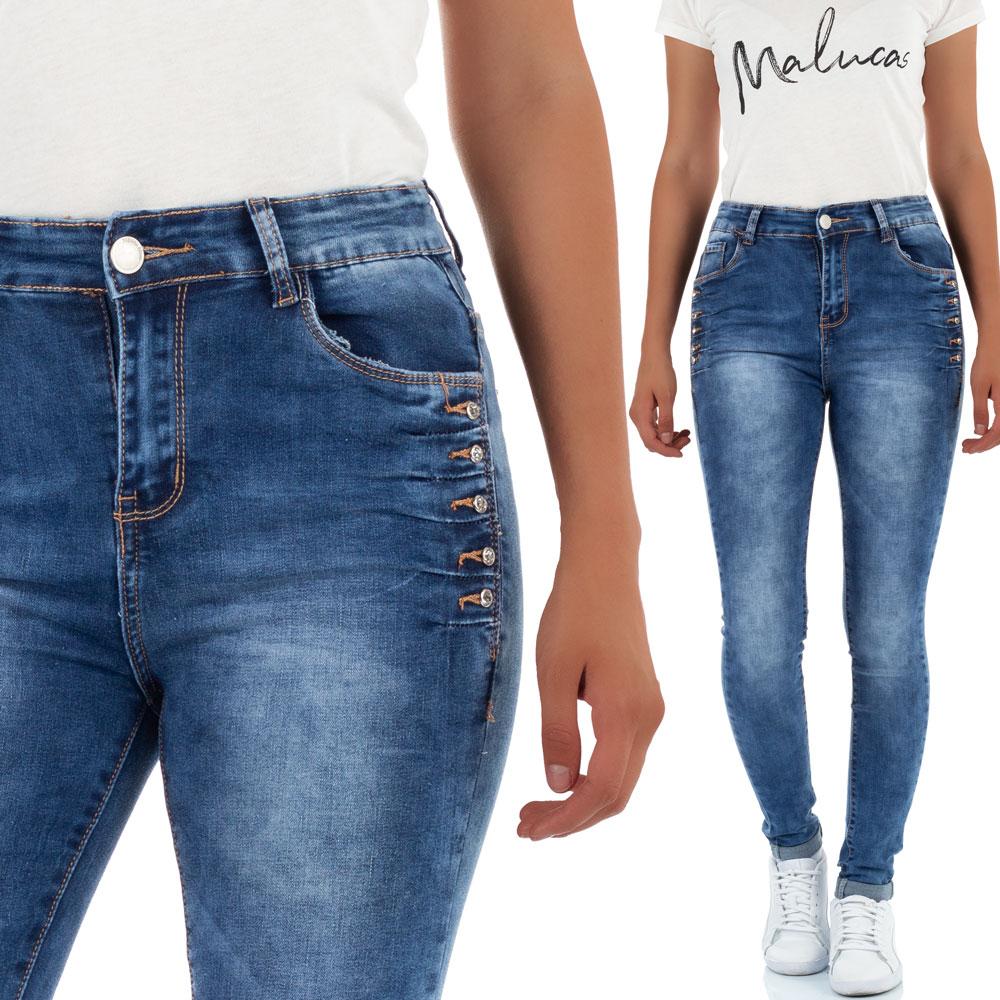 bagunceira Damen High Waist Jeans Slim Fit Hose Röhrenjeans Hochbund Röhrenhose