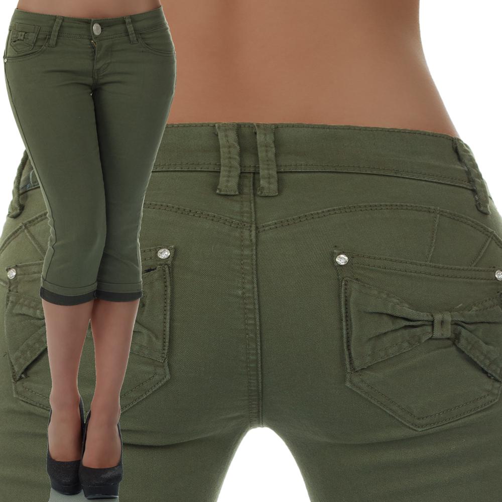 malucas damen capri jeans h fthose 3 4 shorts bermuda h tjeans kurze hose denim ebay. Black Bedroom Furniture Sets. Home Design Ideas