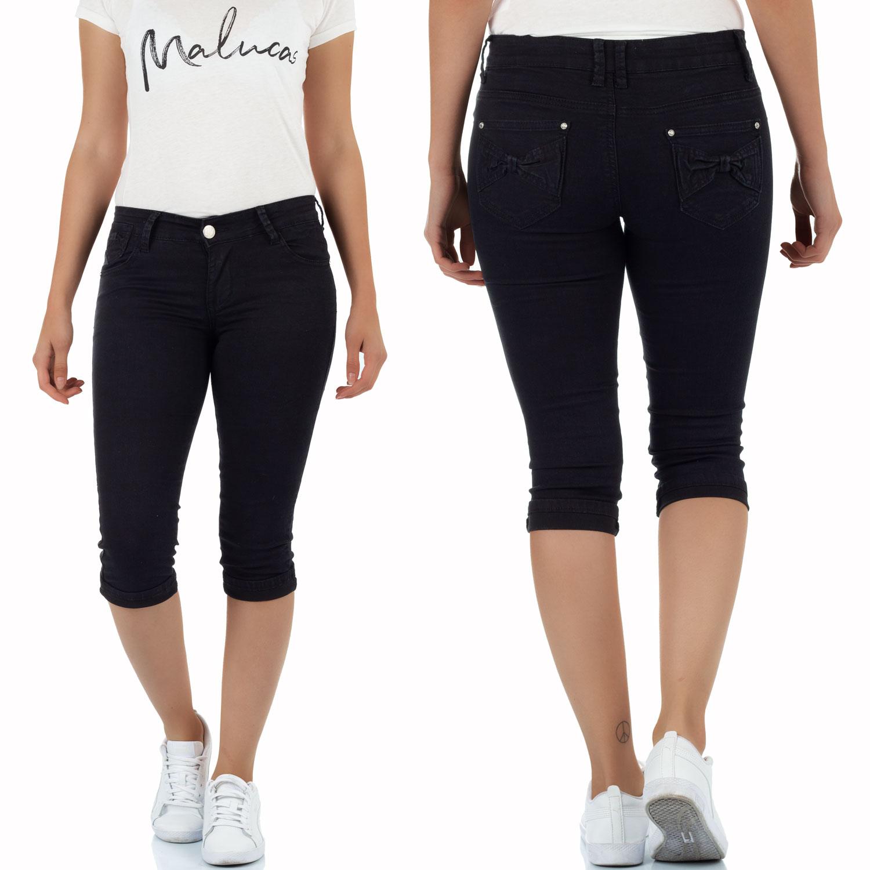 Damen 34 Capri Jeans Kurze Sommer Hose