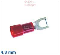 Gabelschuh rot 4,3mm (Preisangabe je 100 Stück)