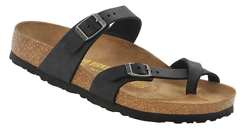 d425cf68e6cb Birkenstock Mayari Leather Oiled Waxy Tobacco Black Habana Slides Thongs  Sandals