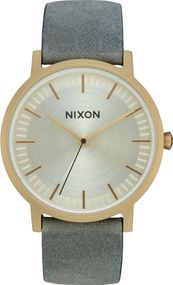 Nixon Porter Leather A1058-2982 Herrenarmbanduhr