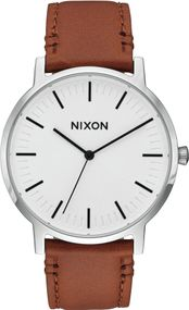 Nixon Porter Leather A1058-2442 Herrenarmbanduhr