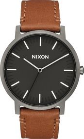 Nixon Porter Leather A1058-2494 Herrenarmbanduhr