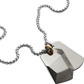 DIESEL Jewellry DOUBLE DOGTAGS DX1143040 Herrenhalskette