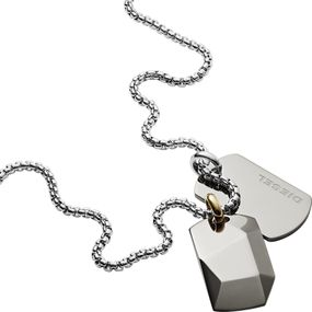 DIESEL Jewellry DOUBLE DOGTAGS DX1144040 Herrenhalskette