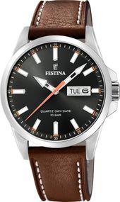 Festina Lederband klassisch F20358/2 Herrenarmbanduhr