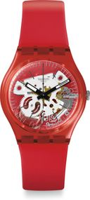 Swatch Gent Lacquered ROSSO BIANCO GR178 Armbanduhr