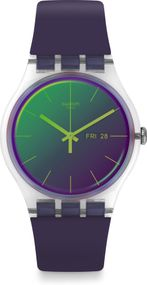 Swatch New Gent POLAPURPLE SUOK712 Herrenarmbanduhr
