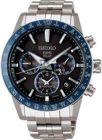 Seiko Astron GPS Solar Dual Time SSH001J1 Herrenarmbanduhr GPS Empfang f. Uhrzeit & Zeitzone