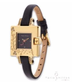 Paris Hilton Small Square PH138.4336.99 Elegante Damenuhr Goldenes Gehäuse