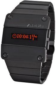 APUS Beta Solid Red AP-BT-RD-BK-D OLED Uhr für Herren 2. Zeitzone