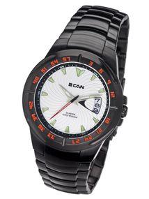 2 Can Professional Timepieces Vortex SM1597D CH Elegante Herrenuhr Justierbare Lünette