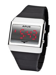 APUS Delta Silver Red AS-DE-SR LED Uhr Design Highlight