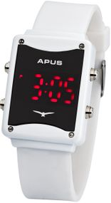 APUS Epsilon White Red AS-ES-WR LED Uhr Design Highlight