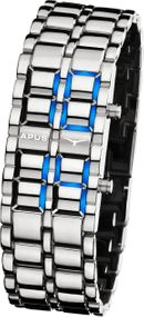APUS Zeta Silver Blue AS-ZT-SB LED Uhr für Herren Design Highlight