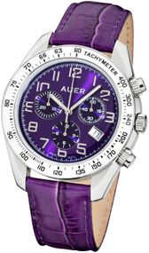 AUER Purple Haze ZU-1163-PDPB Damenchronograph Zeitloses Design