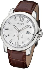 AUER Classic Collection ZU-1139-WDBrB Elegante Herrenuhr Swiss Ronda