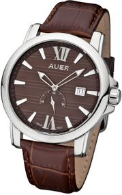 AUER Classic Collection ZU-1139-BrDBrB Herrenarmbanduhr Swiss Ronda