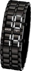 APUS Zeta Black White AS-ZT-BW LED Uhr für Herren Design Highlight
